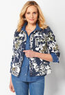 Floral Collage Petite Printed Jacket at Christopher & Banks in Charleston, WV | Tuggl