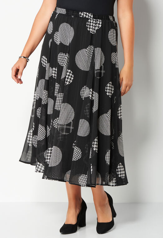 Metallic Dot Printed Plus Size Yoyru Maxi at Christopher & Banks in Charleston, WV | Tuggl