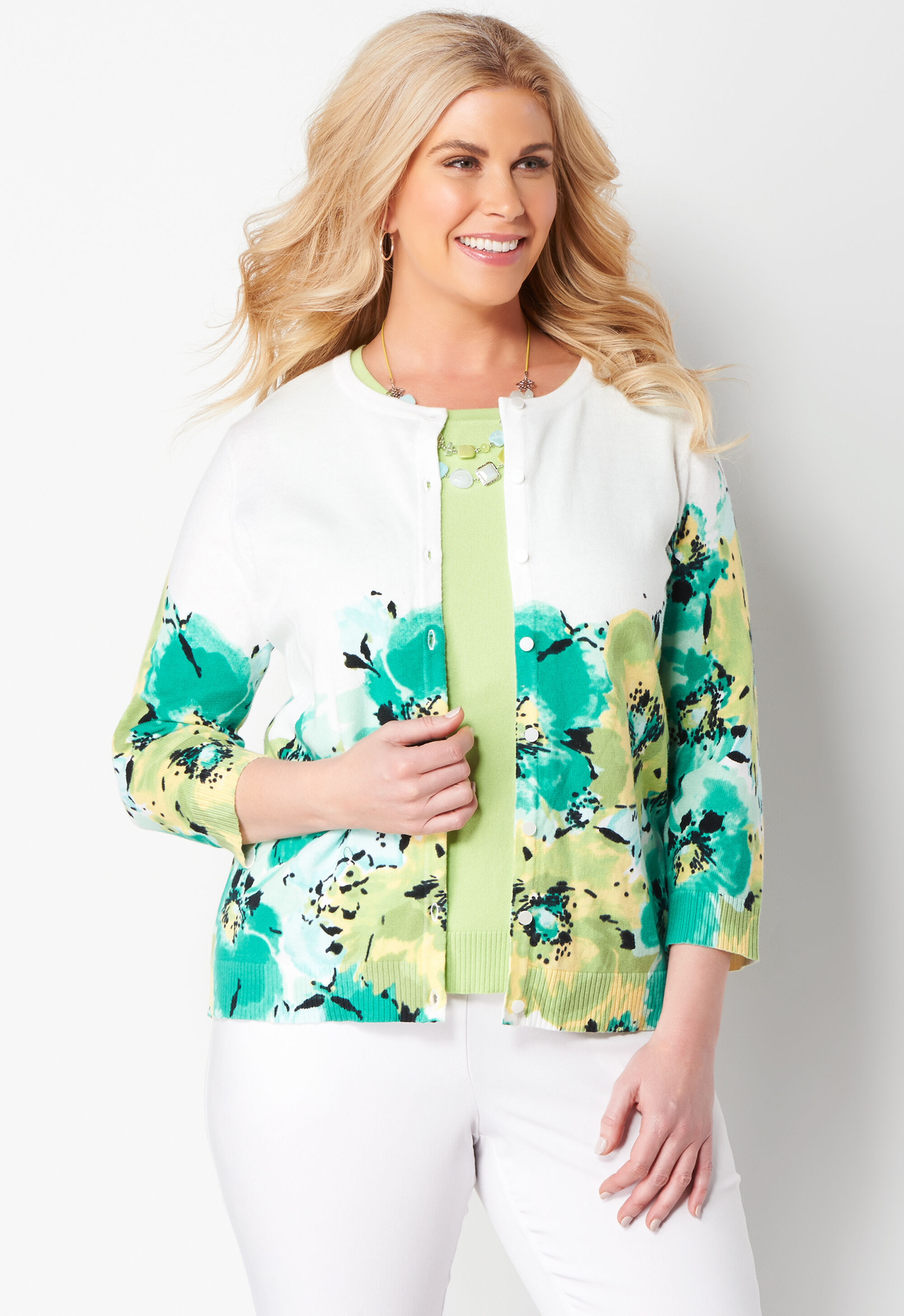 Floral Perfect Plus Size Cardigan