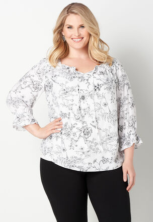 dbdb02f159c Women's Plus Size Blouses & Shirts, Sizes 14-24 | Christopher & Banks®