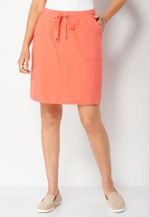 Relaxed Restyled Mesh Pocket Petite Skort at Christopher & Banks in Charleston, WV | Tuggl