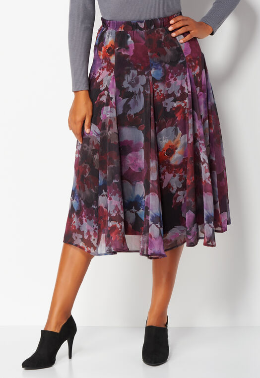 Textured Floral Yoryu Skirt at Christopher & Banks in Charleston, WV | Tuggl