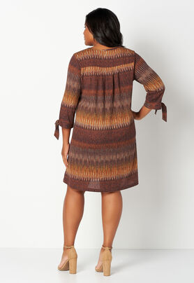 Chevron Rib Knit Hatchi Plus Size Dress - CBK Web Store