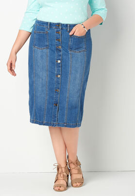 4005bfcdd ... Button Front Denim Plus Size Skirt. Previous. The product image is  missing! The product image is missing! The product image is missing!