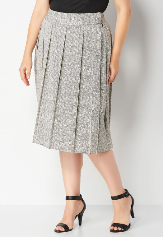 Textured Square Pleated Plus Size Skirt at Christopher & Banks in Charleston, WV | Tuggl