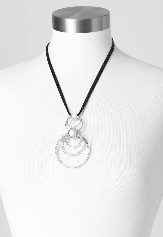 Corded Multi Circle Necklace at Christopher & Banks in Charleston, WV | Tuggl