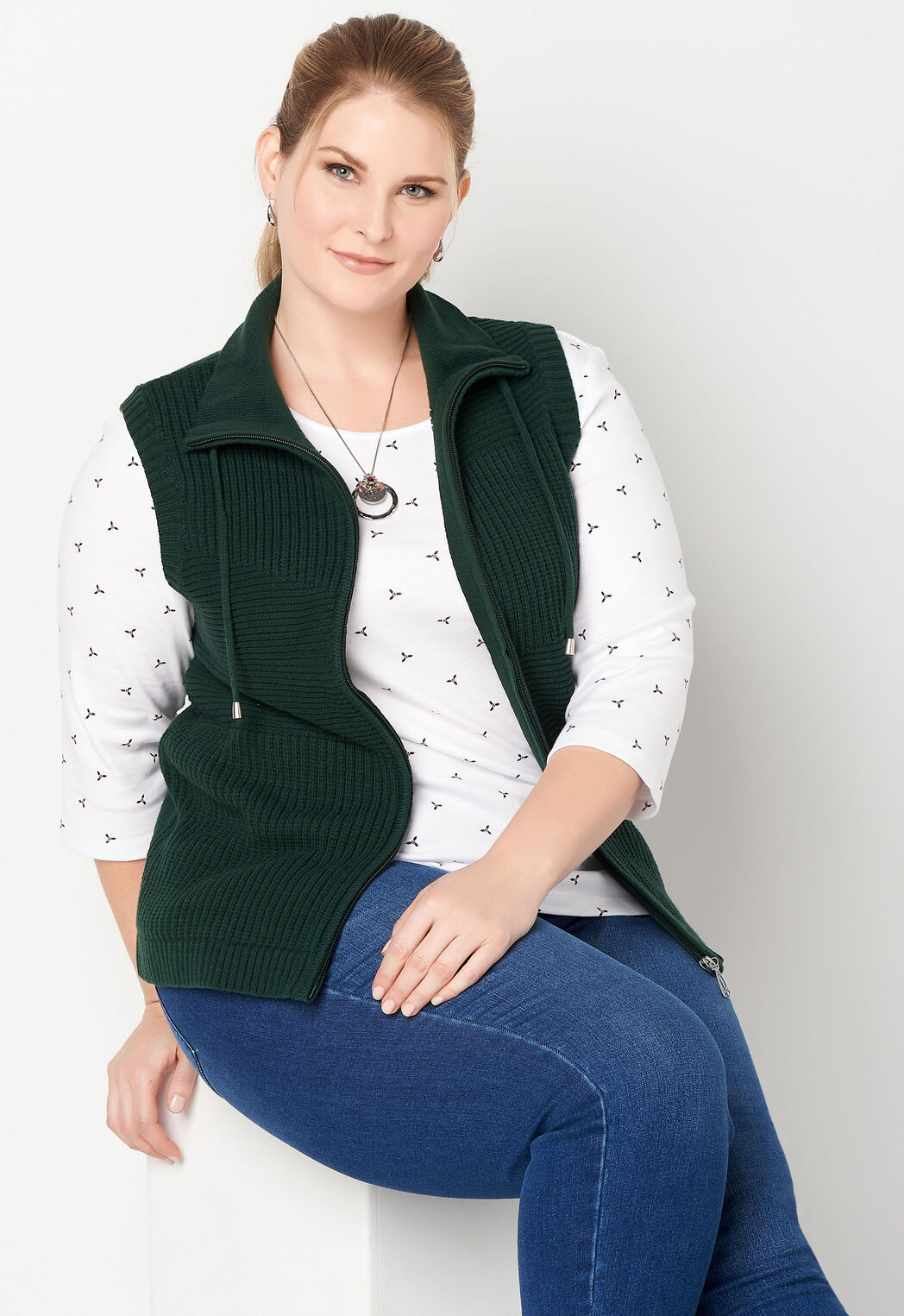 8d2d5c04a17 Women s Patchwork Solid Sporty Ve from CJ Banks®