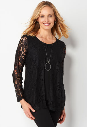 how to wear a lace cardigan