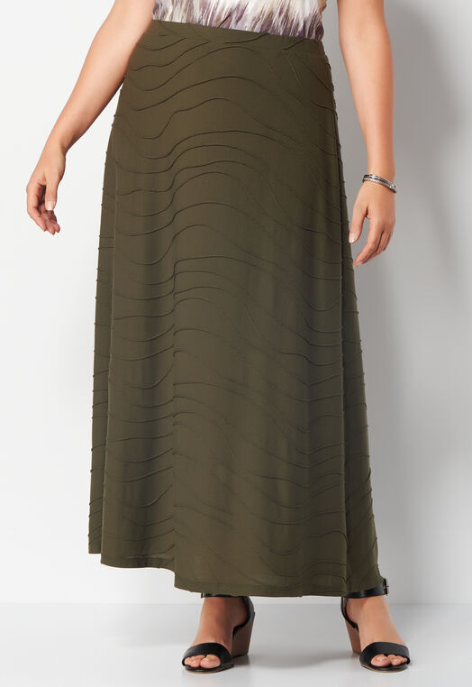 Wavy Knit Plus Size Skirt at Christopher & Banks in Charleston, WV | Tuggl