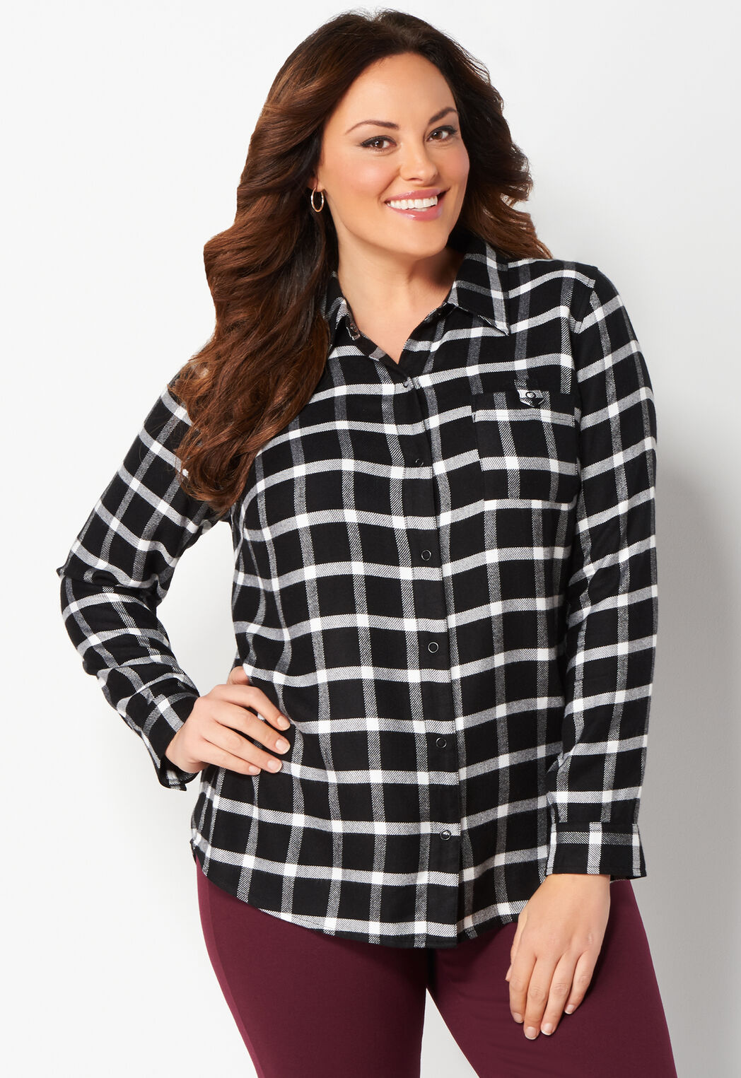 Women\'s Buffalo Check Plus Size Plaid Shirt from Christopher ...