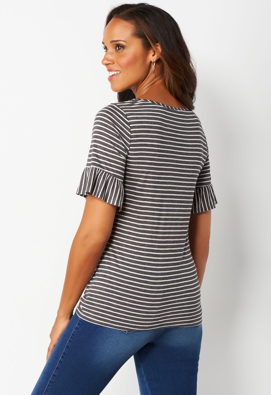 25829bac55a ... Tie Front Stripe Plus Size Top. Previous. add to wish list · add to wish  list