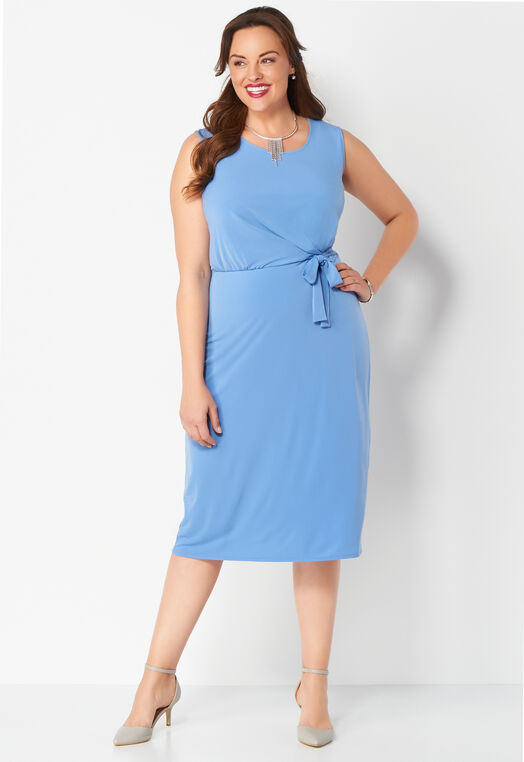 Solid Side Tie Plus Size Tank Dress at Christopher & Banks in Charleston, WV | Tuggl