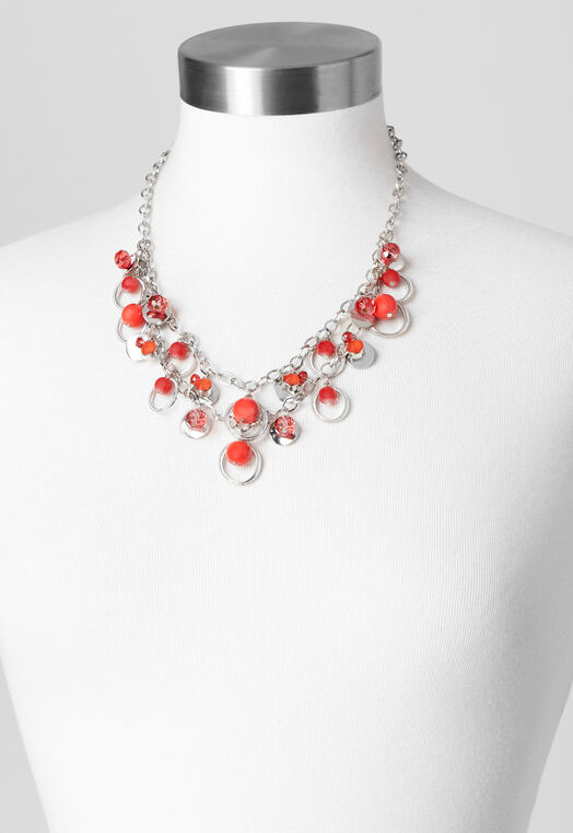 2 Strand Circle Statement Necklace at Christopher & Banks in Charleston, WV | Tuggl