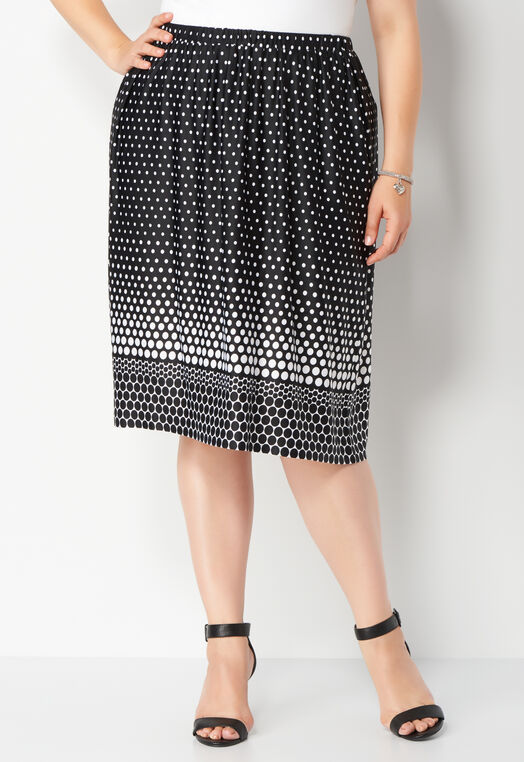 Abstract Dots Plus Size Skirt at Christopher & Banks in Charleston, WV | Tuggl