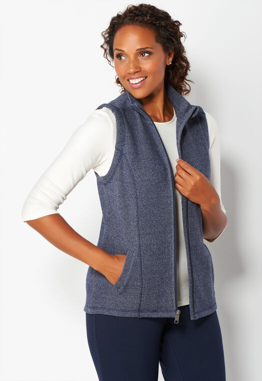 Relaxed Restyled Knit Vest at Christopher & Banks in Charleston, WV | Tuggl