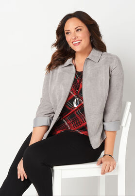 67790c0877a Women s Silky Cord Jacket from CJ Banks®