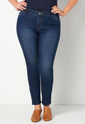8cdf0c565ee Women s Refined Everyday Denim Tapered Leg Plus Size Pant Average from