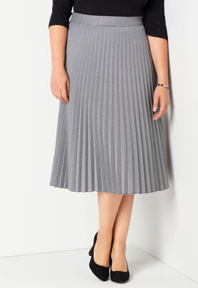 4599b773251a9 Women s B W Pleated Skirt from CJ Banks®