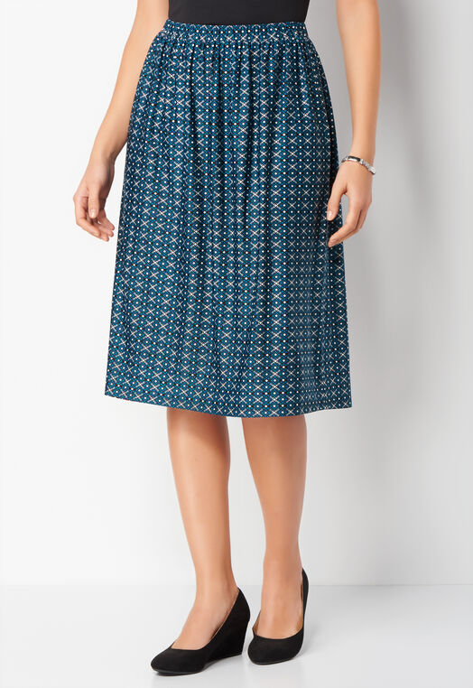 Geo Tile Print ITY Petite Skirt at Christopher & Banks in Charleston, WV | Tuggl