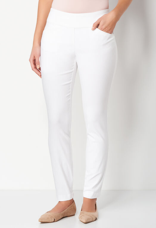 Signature Slimming Pull On Petite Bengaline Ankle Pant at Christopher & Banks in Charleston, WV | Tuggl