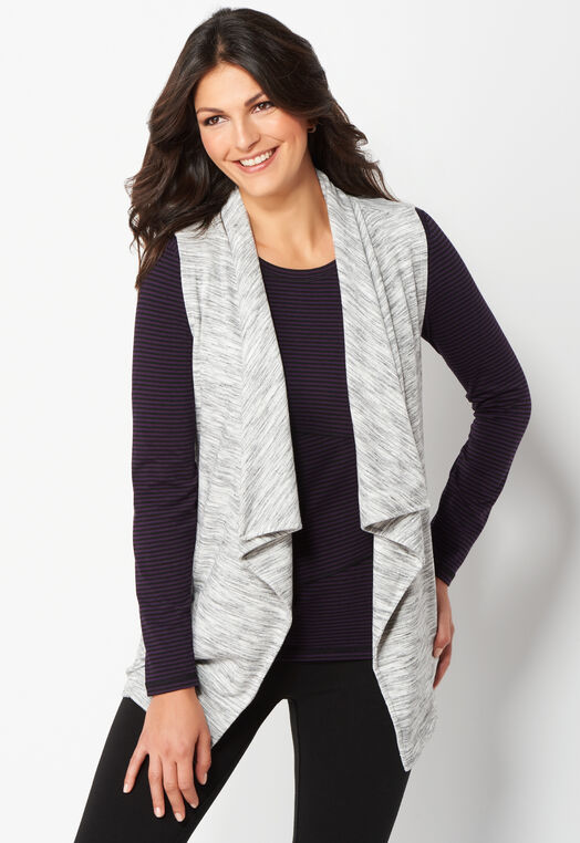 Relaxed Restyled Draped Vest at Christopher & Banks in Charleston, WV | Tuggl