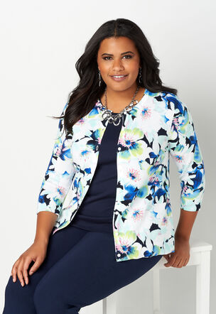 1c4a1c572d1 Allover Floral Printed Perfect Cardigan