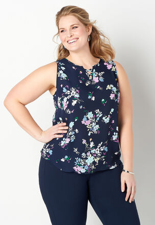 f26c2176981 Floral Printed Plus Size Shell