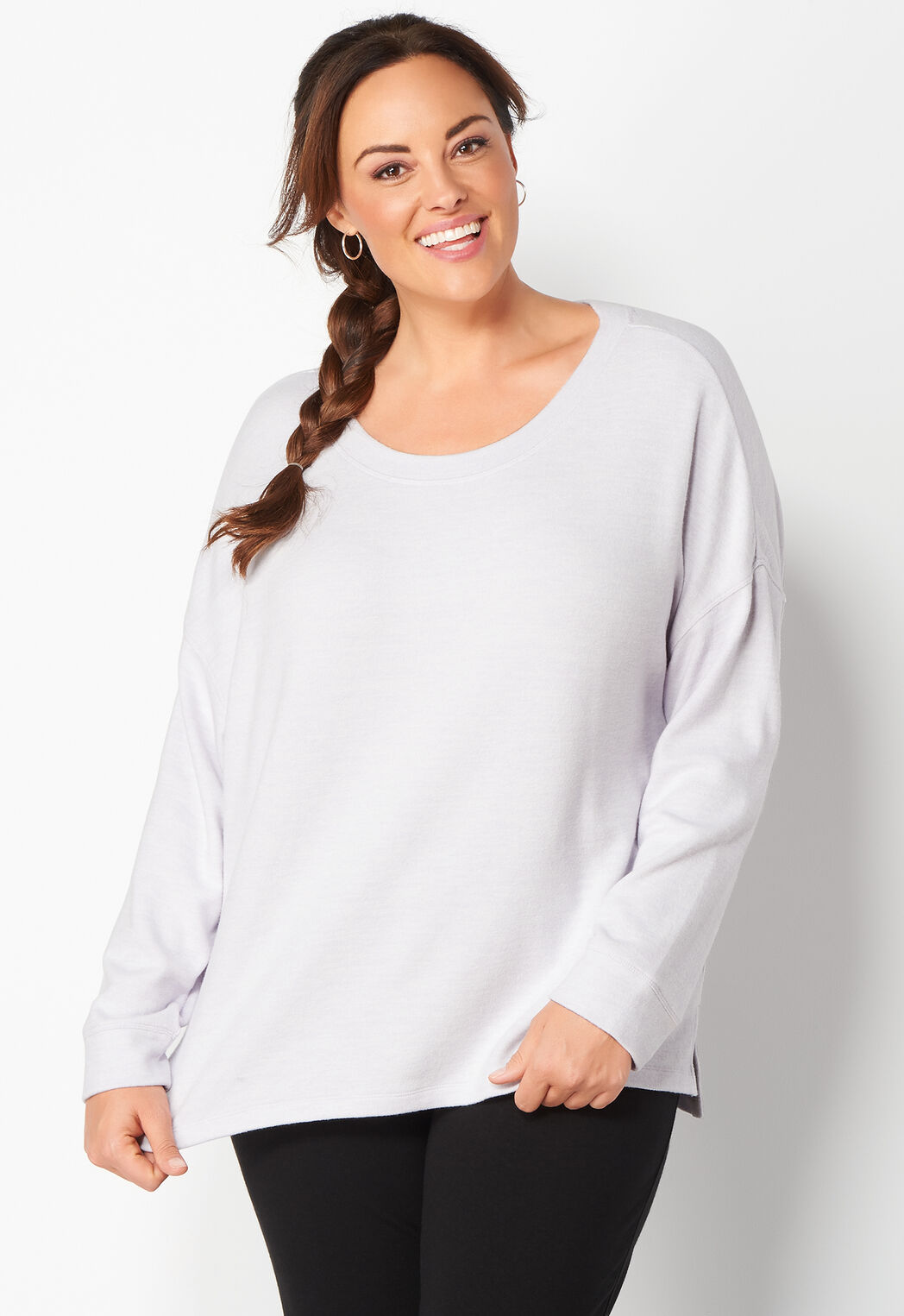 women's relaxed restyled drapey plus size top from christopher