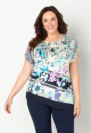 d78bca867d8 Asymmetric Scenic Plus Size Top