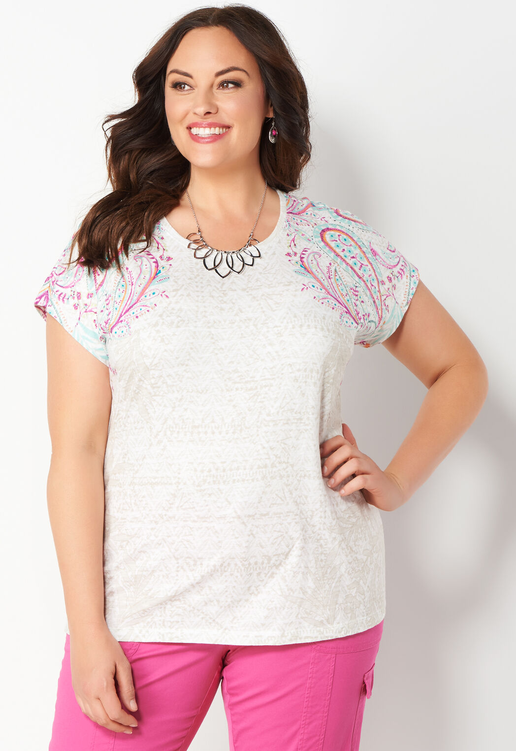 524988523ef Women s Paisley Placed Shldr Tee from Christopher   Banks®