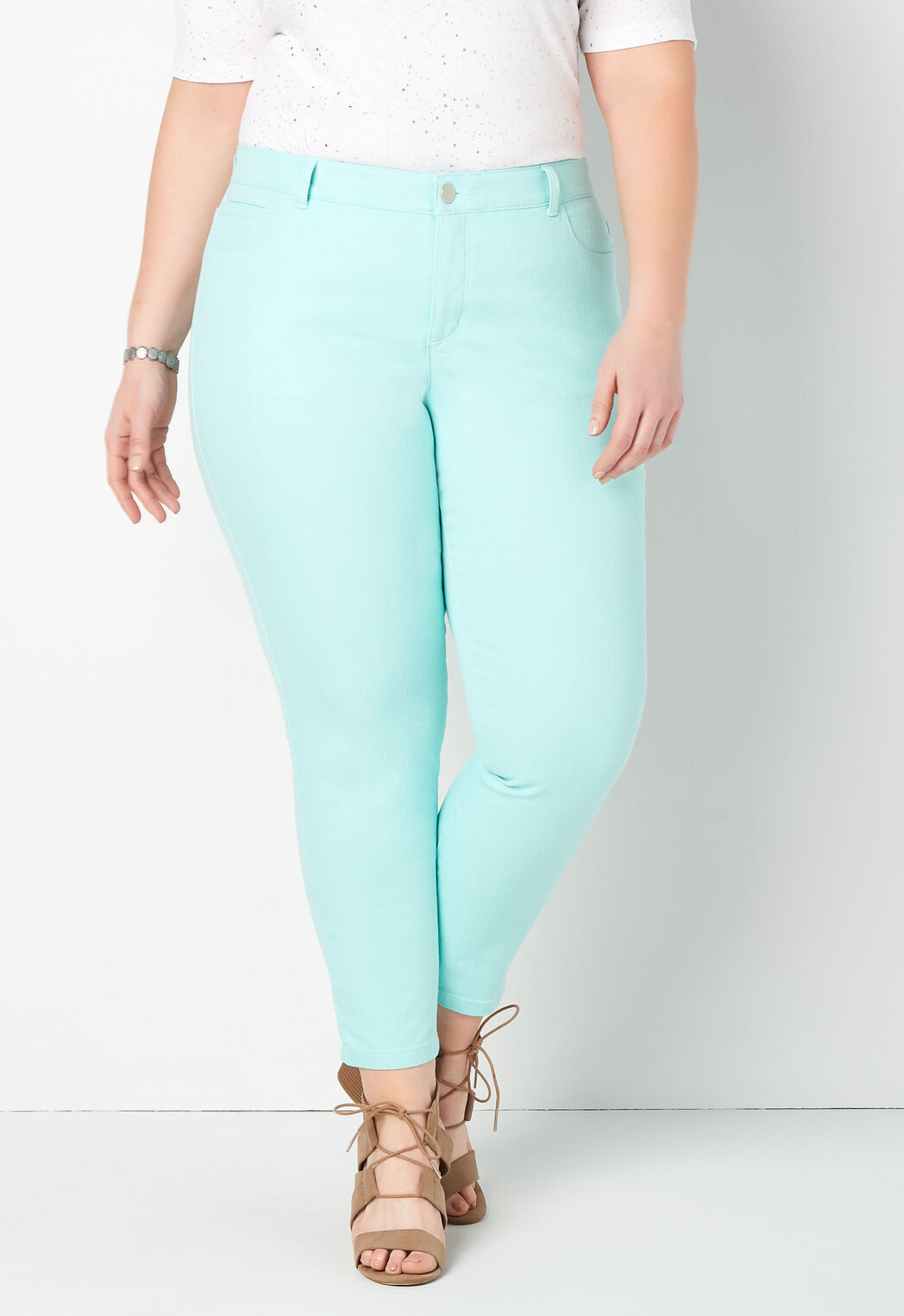c59dae1aa4888 Signature Slimming Colored Denim Plus Size Ankle Jeans - CBK Web Store