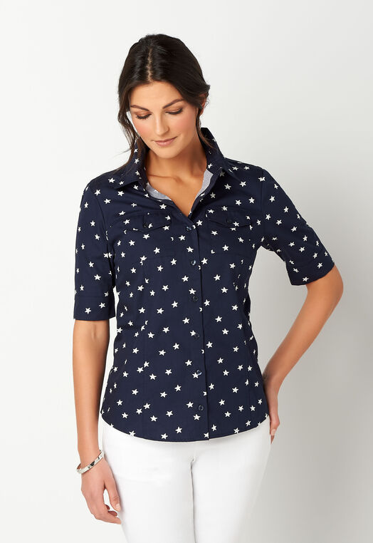 Star Print Essential Shirt
