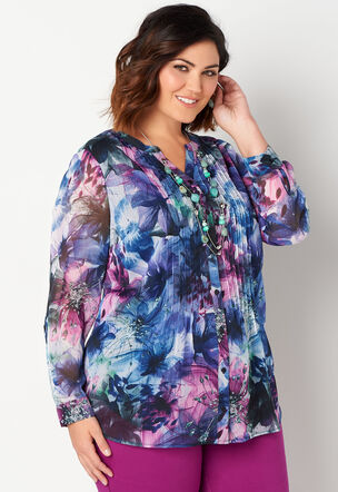 Women S Plus Size Blouses Shirts Sizes 14 24 Christopher Banks