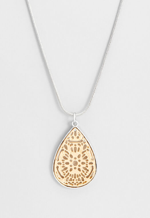 Long Tear Drop Pendant Necklace at Christopher & Banks in Charleston, WV | Tuggl