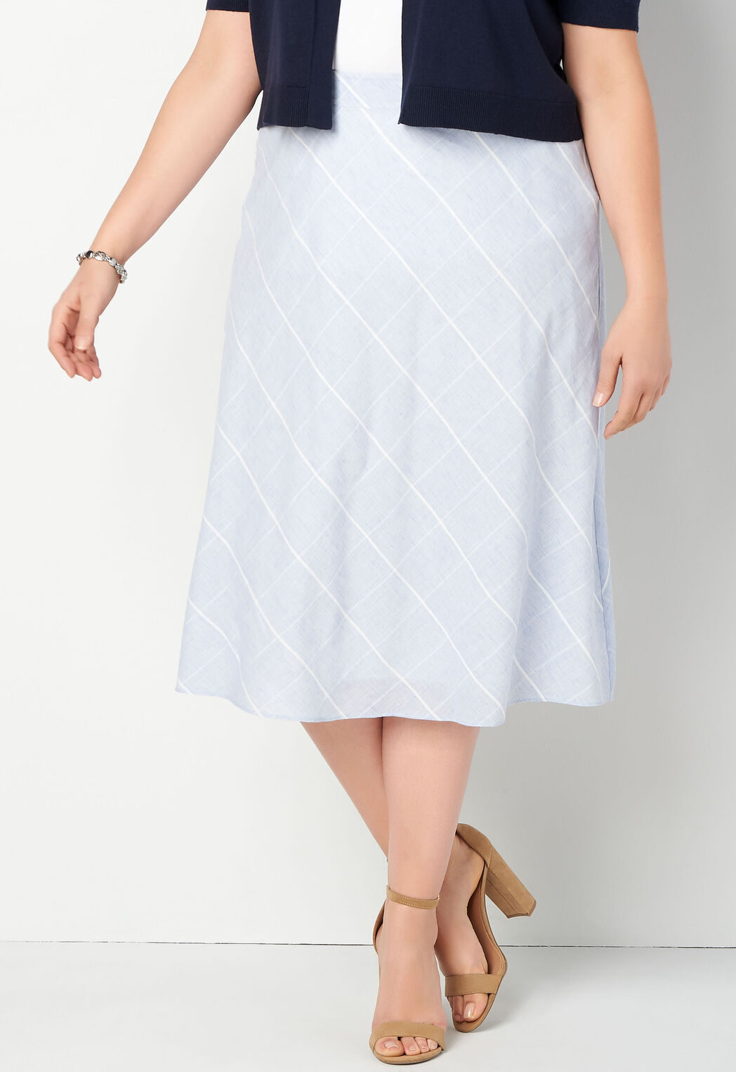 40774da8a ... Plaid Patterned Plus Size Skirt. Previous. add to wish list · add to  wish list