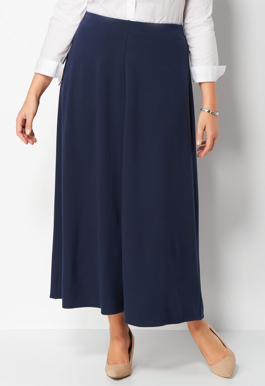 Solid Ponte Plus Size Maxi Skirt at Christopher & Banks in Charleston, WV | Tuggl