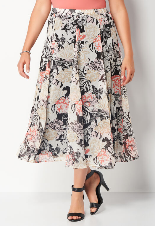 Artistic Floral Yoryu Plus Size Maxi at Christopher & Banks in Charleston, WV | Tuggl
