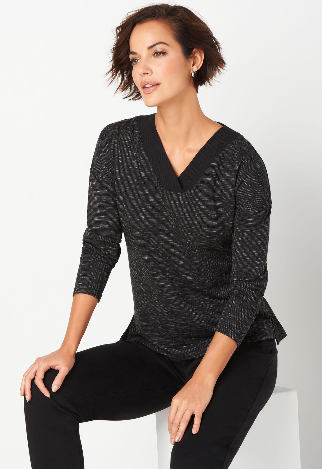 2ad0b18a2ca3a Relaxed Restyled Space Dye V-Neck - CBK Web Store