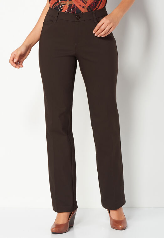 Uptown Straight Leg Pant Long at Christopher & Banks in Charleston, WV | Tuggl
