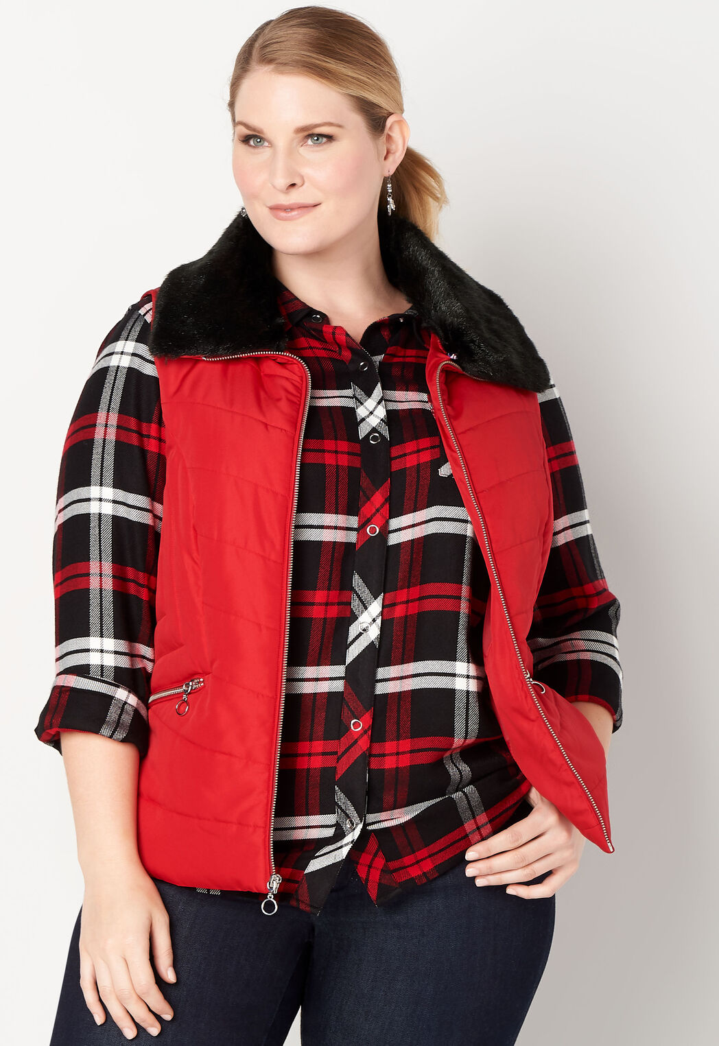 8aeab34923b Women s Novelty Quilted Vest from CJ Banks®