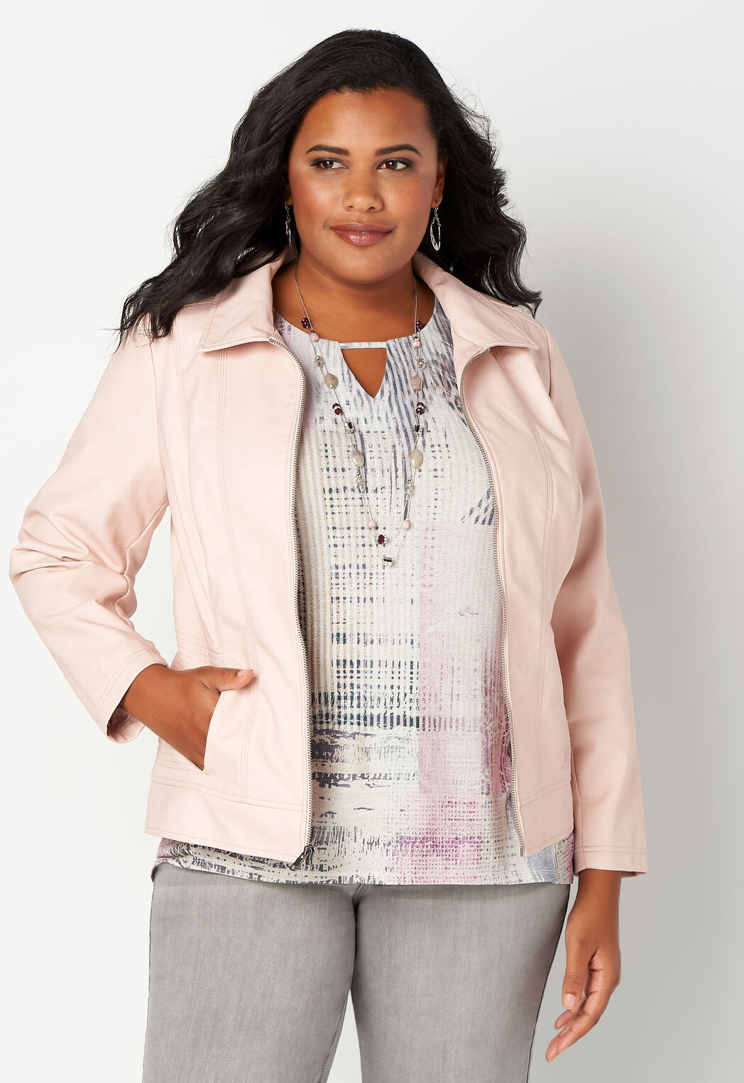 bba0e64af0f Women s Faux Leather Moto Jacket from CJ Banks®