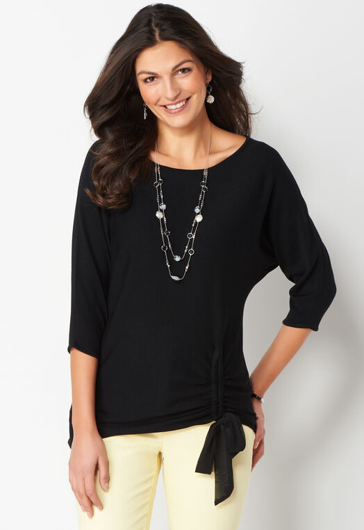 Cinched Hem Petite Size Pullover Sweater at Christopher & Banks in Charleston, WV | Tuggl