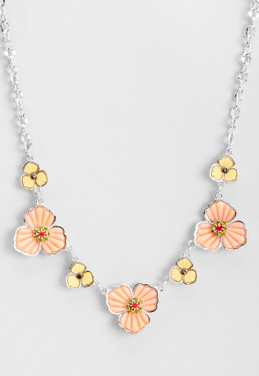 Flower Statement Necklace at Christopher & Banks in Charleston, WV | Tuggl