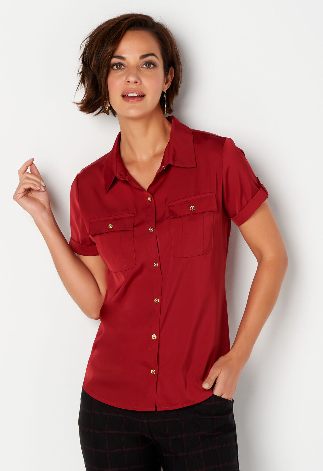 3c86b7d24a Women s Solid Utility Blouse from Christopher   Banks®