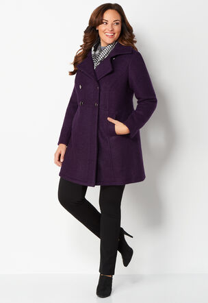double breasted plus size peacoat - cbk web store