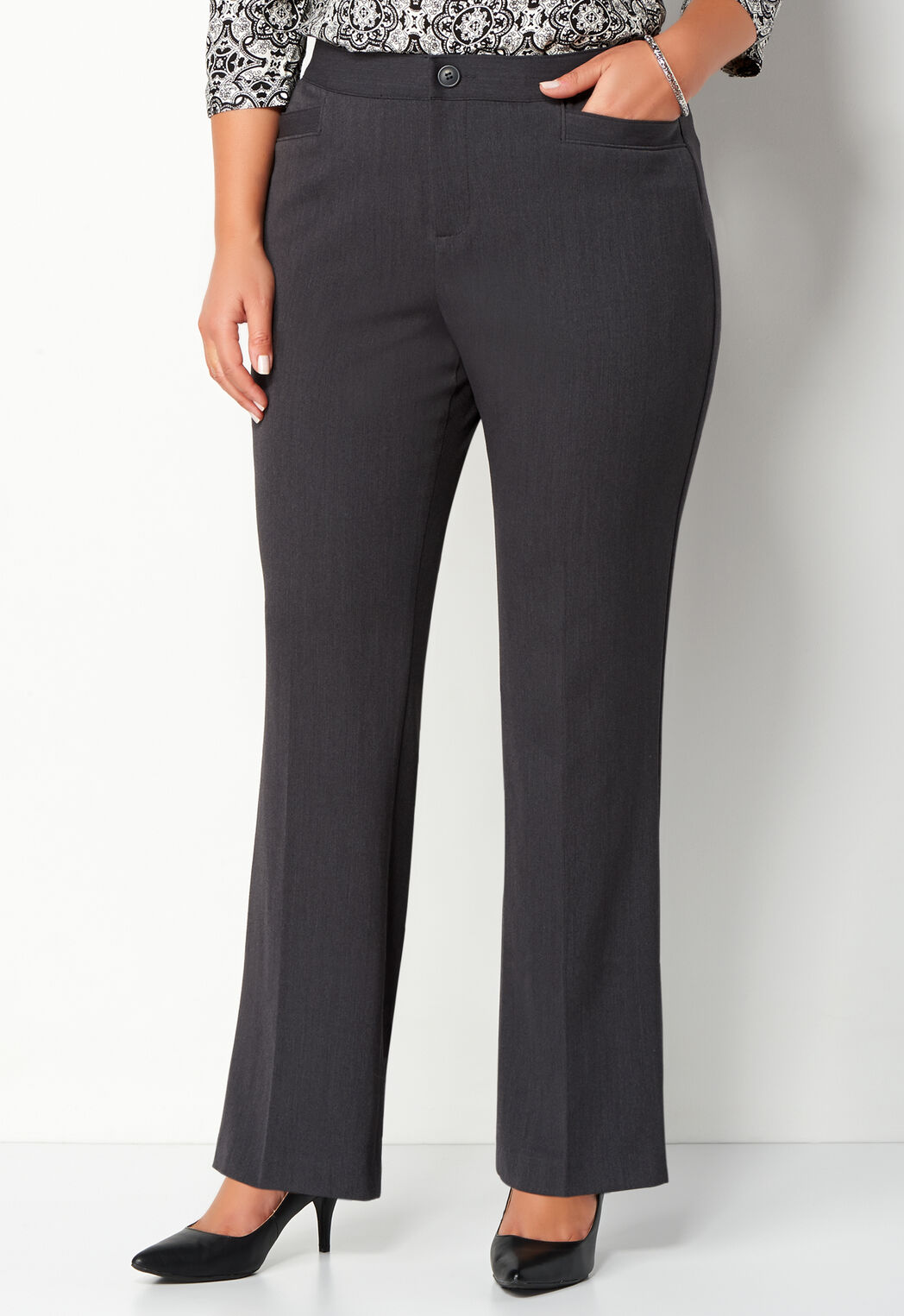 50cbb8f6e43f4 Women s Plus Size Classic Fit Downtown Trouser Tall from Christopher ...