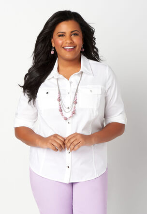 feaaeea95f4 Gingham Essential Plus Size Shirt.  49.95  24.99. Close The product image  is missing!