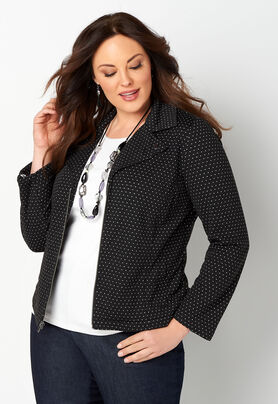 52a4fd317a6 ... Plus Size Moto Jacket. The product image is missing! The product image  is missing! The product image is missing!