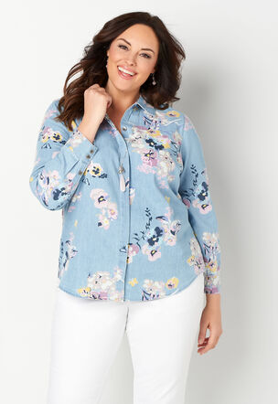 78c50aef8e7 Women s Plus Size Blouses   Shirts