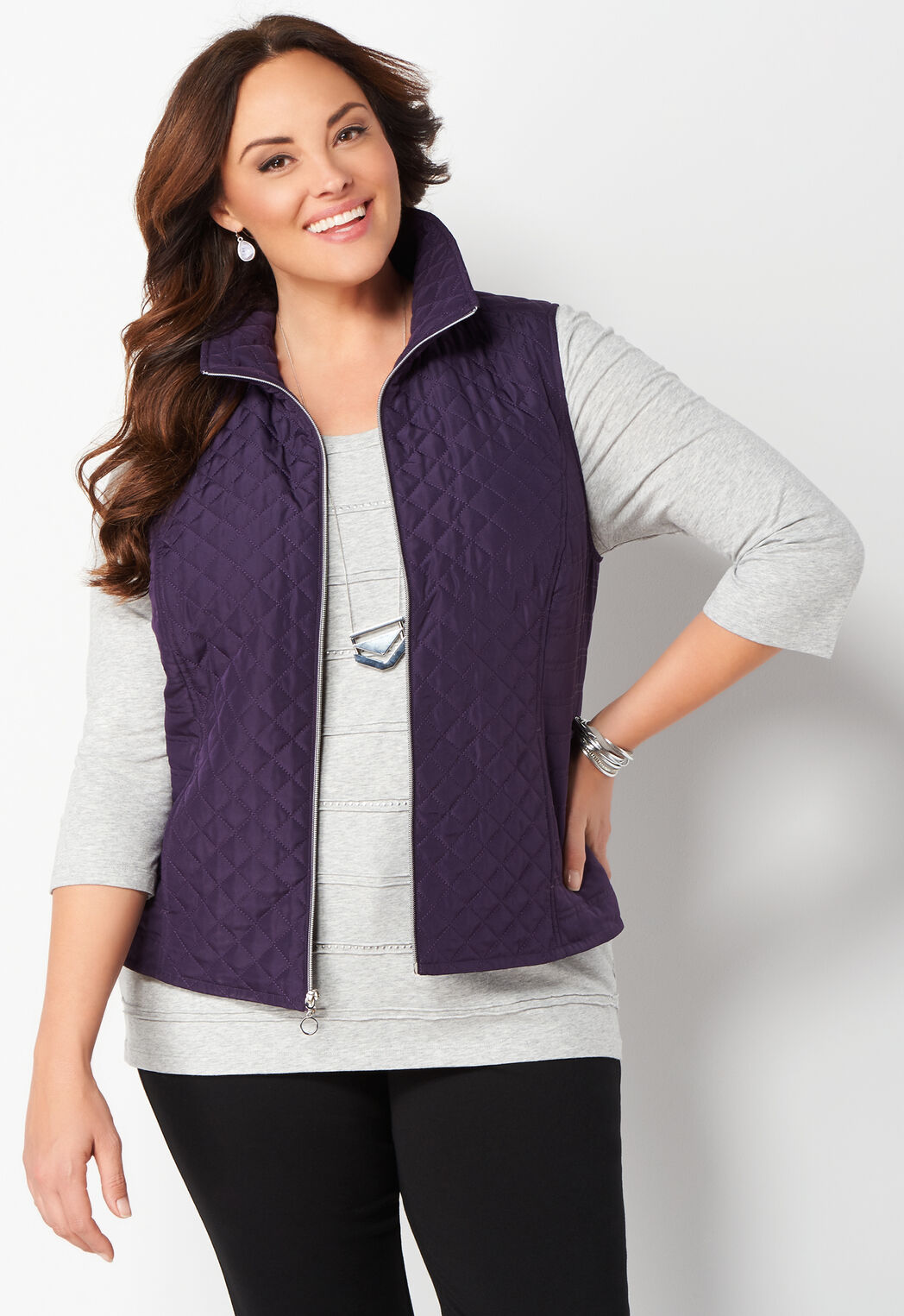 Women\'s Quilted Vest from Christopher & Banks® | CJ Banks®